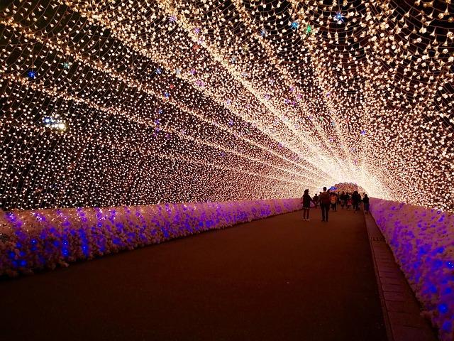 tunel ze světel